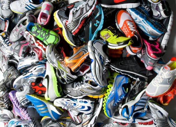 Donate old running shoes